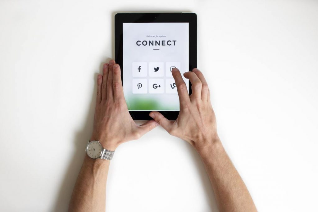 connecting on social media and other online platforms
